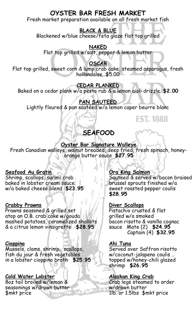 dinner seafood 2018