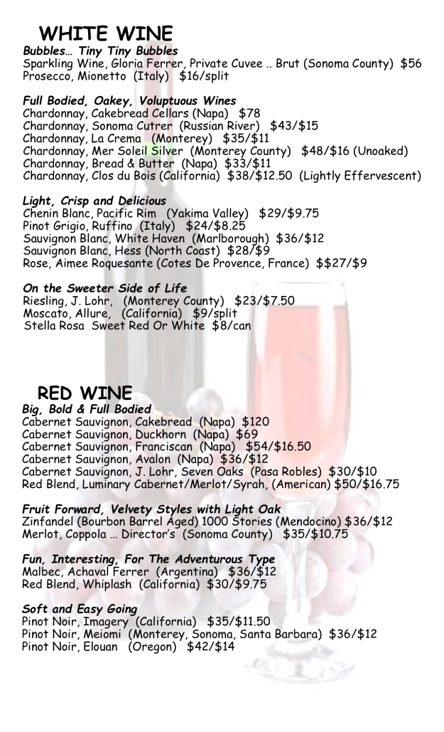 wine list jana August 2018